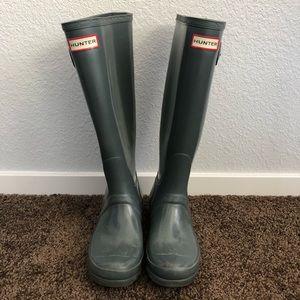Hunter Original Tall Rain Boots Grey